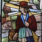 Klassieke raamhanger, met gebrandschilderde afbeelding van de landman, afm_620x1570mm