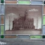Raamhanger met gebrandschilderd glas van 320x270mm