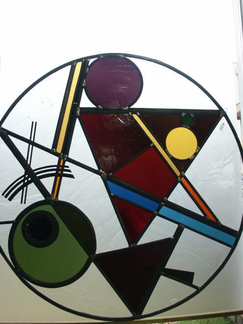 raamhangers van glas leenders glas in lood