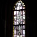 Brandschildering in oud kerkraam