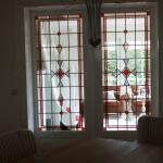 glas in lood in kamer en suite schuifdeuren
