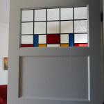 glas in lood modern in paneeldeur