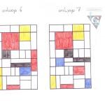 glas in lood ontwerp 14.6 Mondriaan stijl