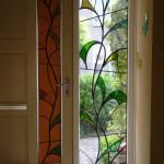glas in lood ontwerp lelie uitgevoerd