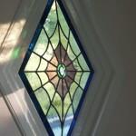 glas in lood ontwerp spinnenweb