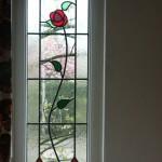 roos in glas in lood in dubbel glas