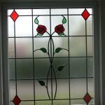glas in lood in isolatieglas met rozen