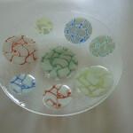 glazen fusing schaal met cirkels
