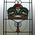 Raamhanger glas in lood en brandschildering