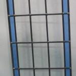 Raamhanger afm_340x690mm alleen per 2 stuks, met blank en blauw en rood glas in lood