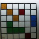 Moderne raamhanger van glas in lood 440×440 mm