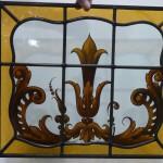 Raamhanger gebrandschilderd glas in lood