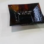 Donkere glazen schaal van 280x280x60mm