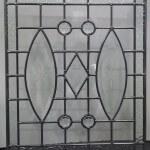 Raamhanger van blank glas in lood 430x500mm