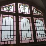 Gerestaureerde glas in lood vensters