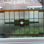 Glas in lood venster als raamhanger