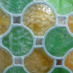 Glas in lood cirkels detail