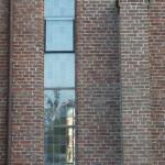 Glas in lood kerk buiten