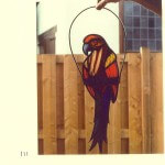 Raamhanger papegaai van glas
