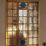 Restauratie glas in lood deur