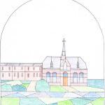 een glas in lood ontwerp St. Jan de Deo