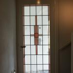 enkel glas in lood voor een binnendeur