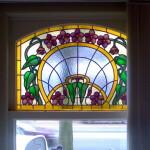 gebrandschilderd glas in lood bovenlicht