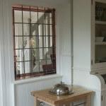 glas in lood in de keuken