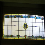 glas in lood met licht gekromde bovenzijde