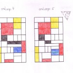 glas in lood ontwerp 14.5 Mondriaan stijl