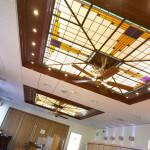 glas in lood in het plafond in Volkel